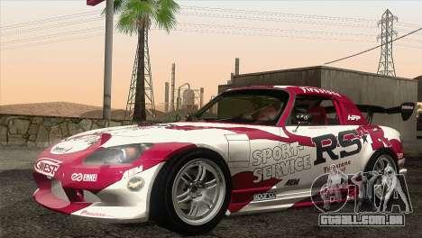 Honda S2000 RS-R para GTA San Andreas vista superior
