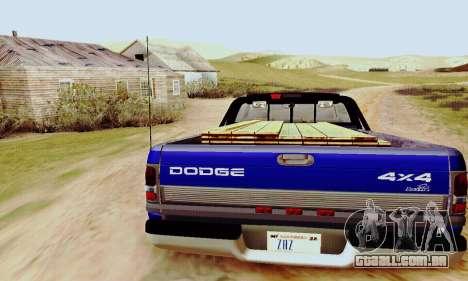 Dodge Ram 3500 para GTA San Andreas vista direita