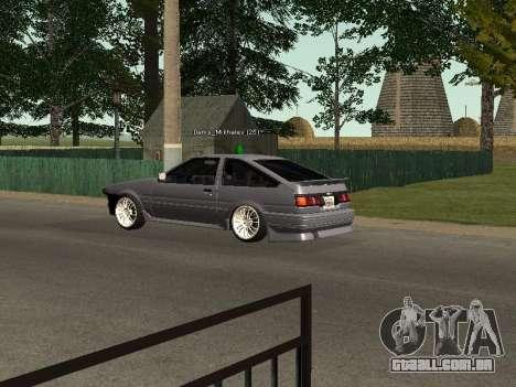 Toyota Corolla GTS Drift Edition para GTA San Andreas vista direita