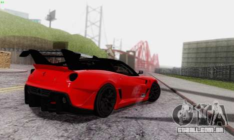 Ferrari 599XX Evolution para GTA San Andreas vista superior