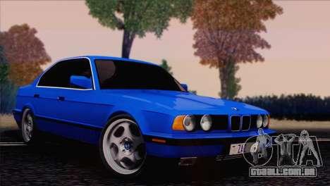 BMW 535i E34 Mafia Style para GTA San Andreas traseira esquerda vista