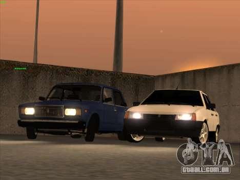 ВАЗ 21074 para GTA San Andreas vista superior