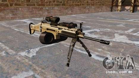 Máquina de assalto FN SCAR-L C-Mag para GTA 4