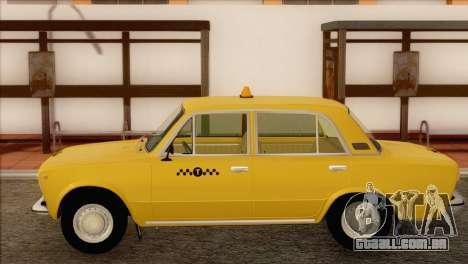 VAZ 21011 Taxi para GTA San Andreas traseira esquerda vista