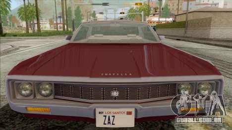 Chrysler New Yorker 4 Door Hardtop 1971 para GTA San Andreas vista direita