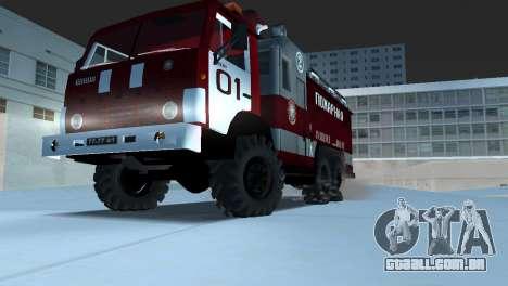KAMAZ 43101 bombeiro para GTA Vice City vista direita