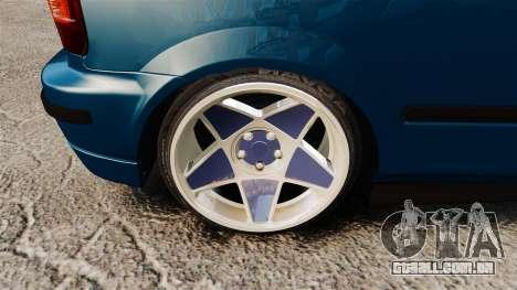 Honda Civic EK para GTA 4 vista de volta