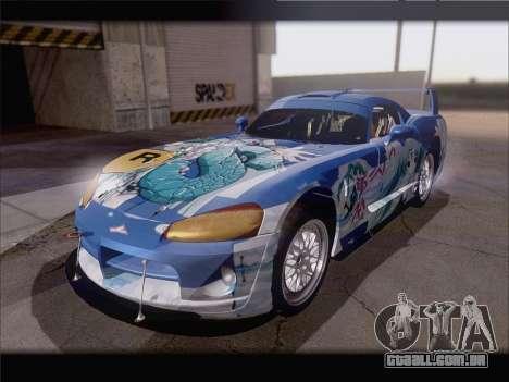 Dodge Viper Competition Coupe para GTA San Andreas vista interior