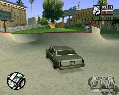 Novo HD Skate Park para GTA San Andreas sexta tela
