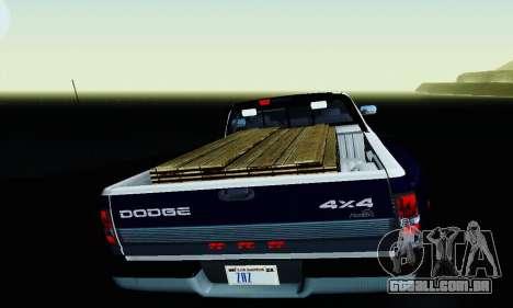 Dodge Ram 3500 para GTA San Andreas vista superior