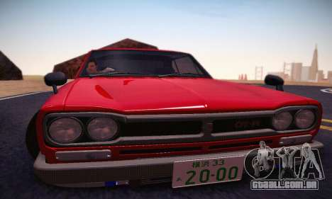 Nissan Skyline 2000GTR 1967 Hellaflush para GTA San Andreas vista inferior