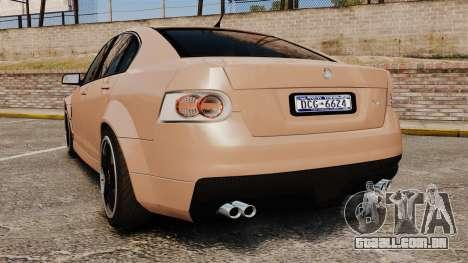 Holden HSV W427 2009 para GTA 4 traseira esquerda vista