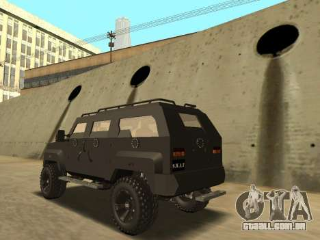 Ford Super Duty Armored para GTA San Andreas esquerda vista