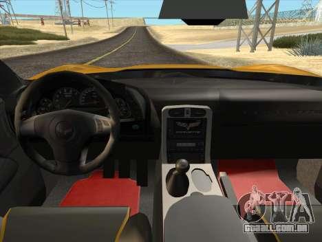 Chevrolet Corvette Z06 2006 v2 para GTA San Andreas vista traseira