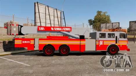 MTL Firetruck Tower Ladder [ELS-EPM] para GTA 4 esquerda vista