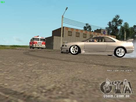 Nissan Skyline R33 GT-R para GTA San Andreas traseira esquerda vista