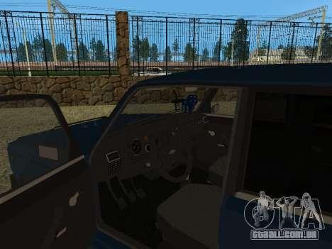 VAZ 2105 para GTA San Andreas vista traseira