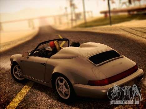 Porsche 911 Speedster Carrera 2 1992 para GTA San Andreas esquerda vista