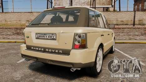 Range Rover Sport Unmarked Police [ELS] para GTA 4 traseira esquerda vista