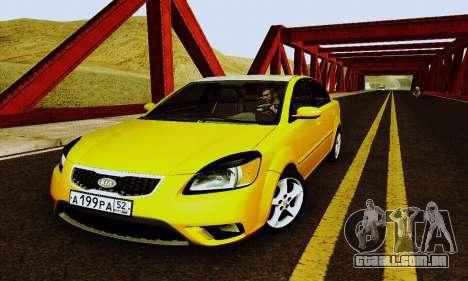 Kia Rio II 2009 para GTA San Andreas vista superior