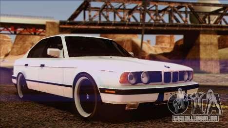 BMW 535i E34 Mafia Style para GTA San Andreas vista inferior