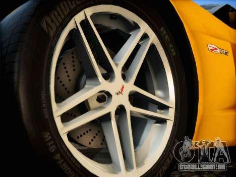Chevrolet Corvette Z06 2006 v2 para GTA San Andreas vista direita