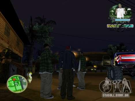 C-HUD Groove Street para GTA San Andreas segunda tela
