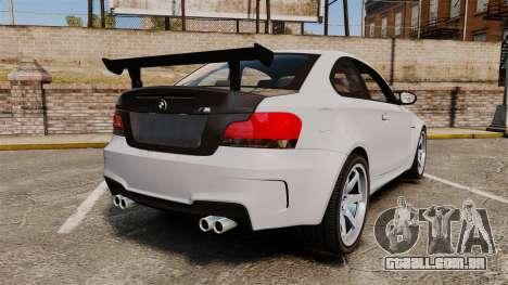 BMW 1M 2014 para GTA 4 traseira esquerda vista