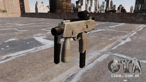 Pistola-metralhadora MP9 tática para GTA 4