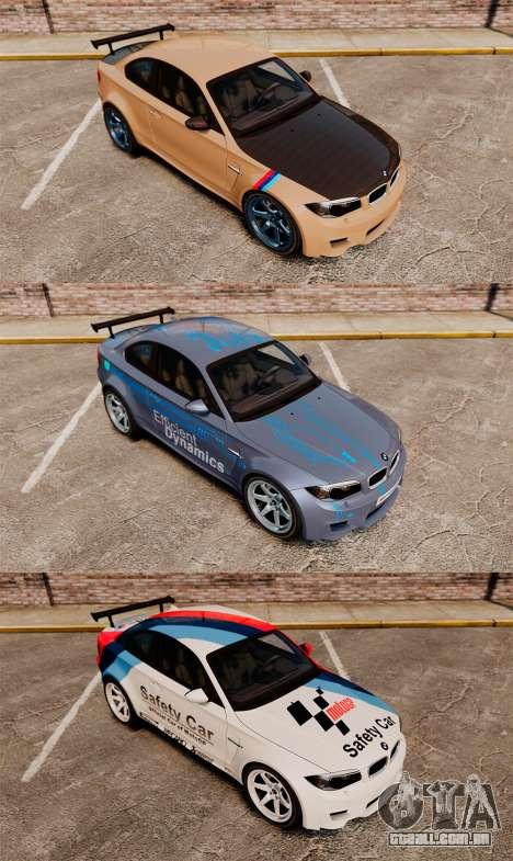 BMW 1M 2014 para GTA 4 vista inferior