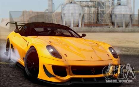 Ferrari 599XX Evolution para GTA San Andreas vista traseira