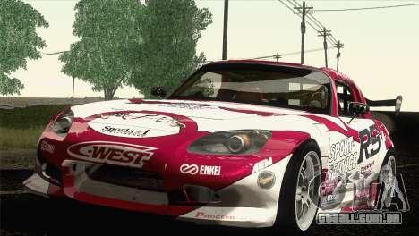 Honda S2000 RS-R para GTA San Andreas vista interior