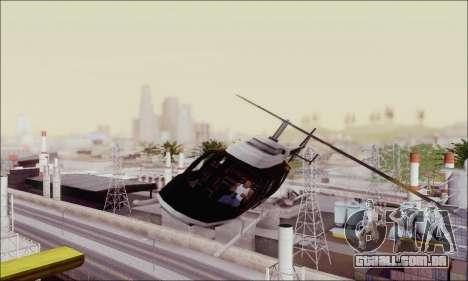 Police Maverick para GTA San Andreas vista traseira