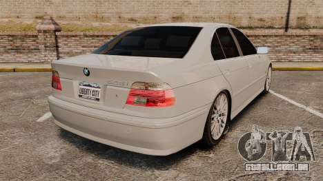 BMW 525i (E39) para GTA 4 traseira esquerda vista