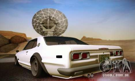Nissan Skyline 2000GTR 1967 Hellaflush para GTA San Andreas vista direita