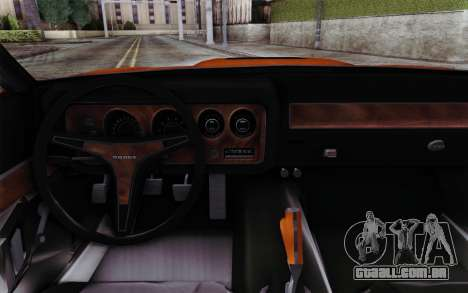 Dodge Charger 1971 Super Bee para GTA San Andreas vista direita