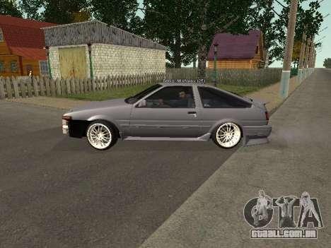 Toyota Corolla GTS Drift Edition para GTA San Andreas esquerda vista