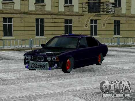 BMW 525i e34 Hobo para GTA San Andreas traseira esquerda vista