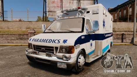 Ford E-350 Liberty Ambulance [ELS] para GTA 4