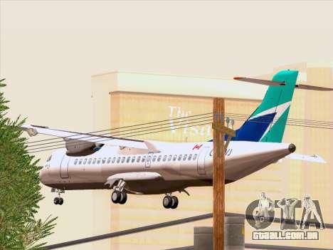 ATR 72-500 WestJet Airlines para vista lateral GTA San Andreas