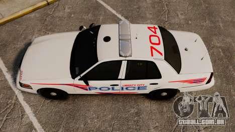 Ford Crown Victoria 2008 LCPD Patrol [ELS] para GTA 4 vista direita