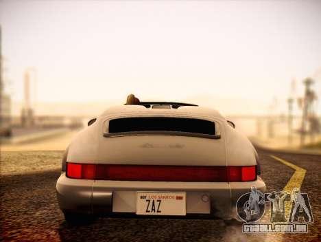 Porsche 911 Speedster Carrera 2 1992 para GTA San Andreas vista direita