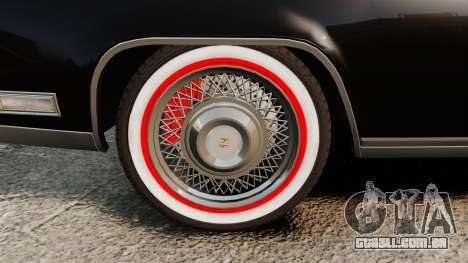 Cadillac Eldorado Coupe 1969 para GTA 4 vista de volta