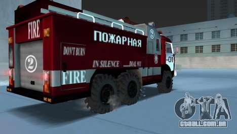 KAMAZ 43101 bombeiro para GTA Vice City deixou vista