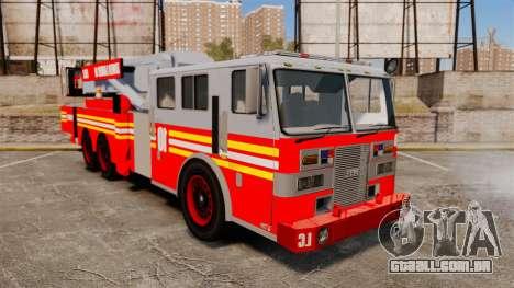 MTL Firetruck Tower Ladder [ELS-EPM] para GTA 4