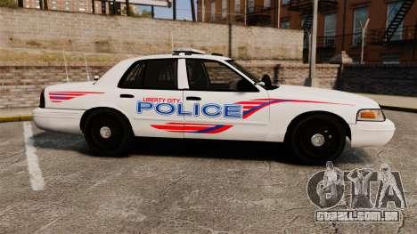 Ford Crown Victoria 2008 LCPD Patrol [ELS] para GTA 4 esquerda vista