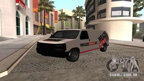 Newsvan Rumpo GTA 5 para GTA San Andreas
