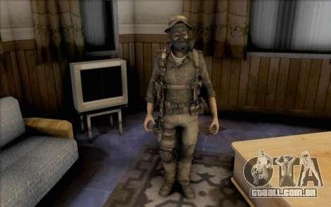 Capitão preço (com máscara) para GTA San Andreas segunda tela
