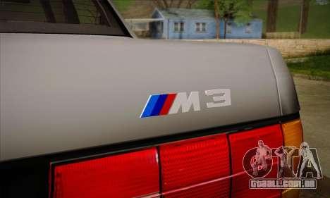BMW M3 E30 para as rodas de GTA San Andreas