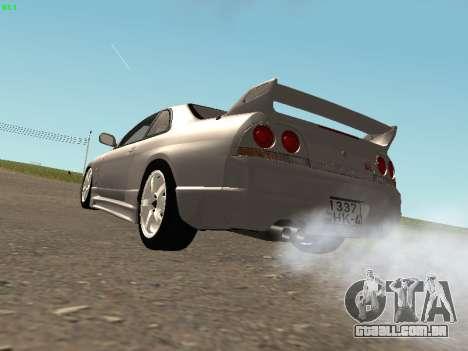 Nissan Skyline R33 GT-R para GTA San Andreas vista direita